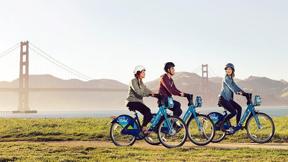 Компания Ford открыла собственный велопрокат в Сан-Франциско
