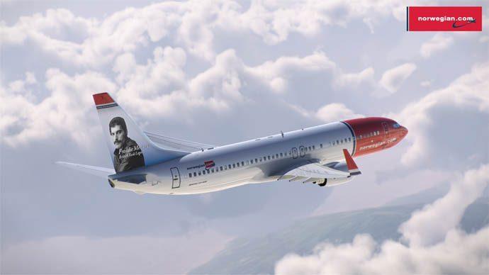 Самолет с изображением Фредди Меркьюри появится в Норвегии