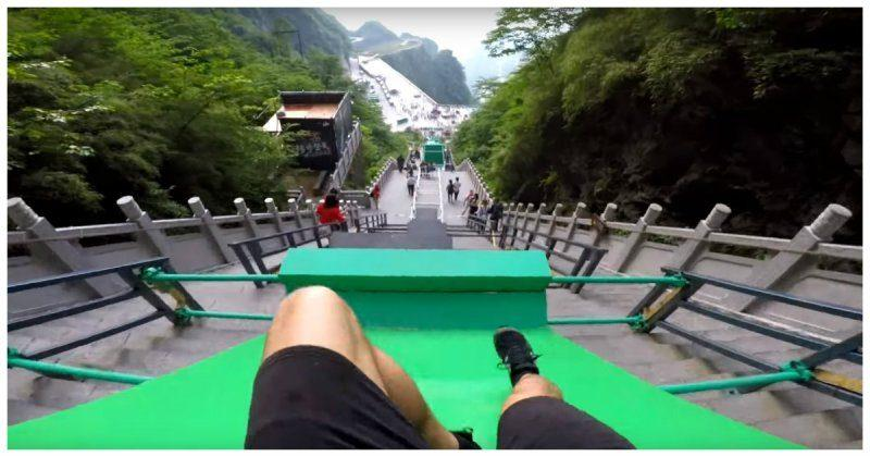 (видео) В Китае появилась 300-метровая трасса для паркура