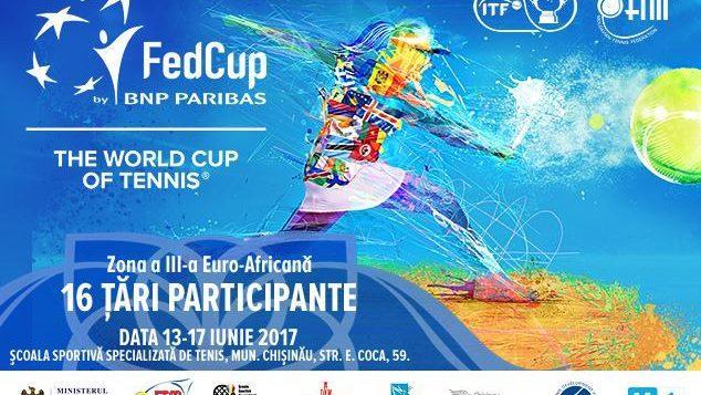 Женский командный чемпионат мира по большому теннису Fed Cup by BNP Paribas 2017 пройдет в Кишиневе