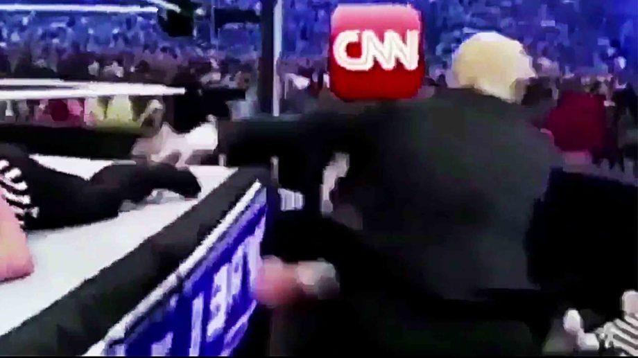 (видео) Трамп опубликовал видео, где «избивает» CNN. Как канал отреагировал на это