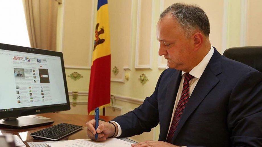Игорь Додон промульгировал закон о изменении электоральной системы