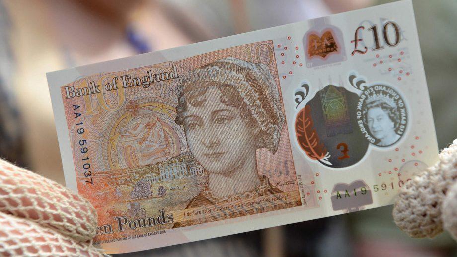 В Англии появились банкноты с изображением Джейн Остин