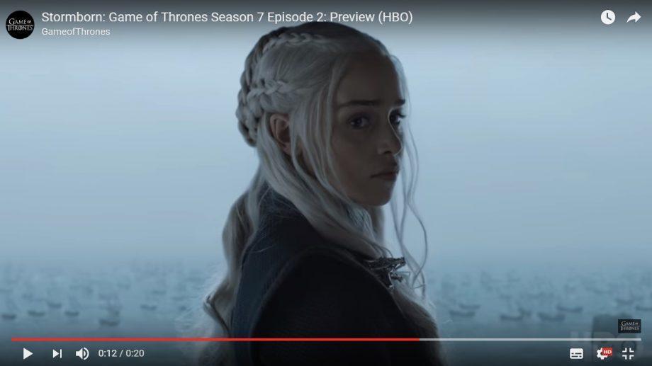 """(видео) HBO выпустили превью на вторую серию 7 сезона """"Игры престолов"""""""