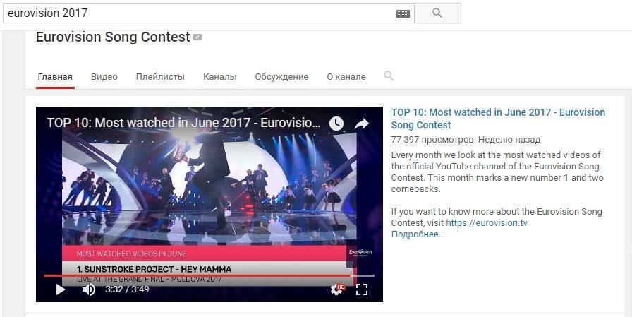 (видео) Sunstroke Project заняли первое место в ТОП-10 самых просматриваемых видео за июнь