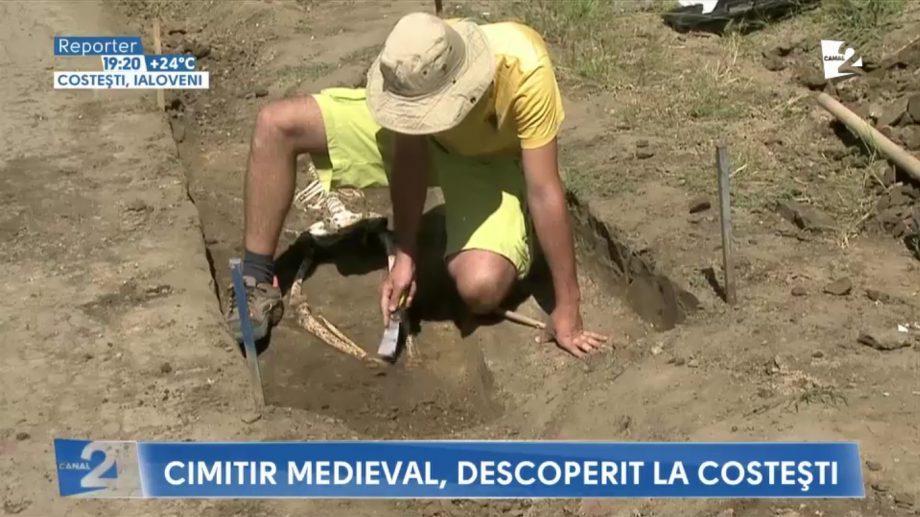 В селе Костешть нашли средневековое кладбище