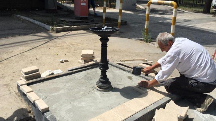 (фото) В парке Кафедрального Собора был установлен фонтан с питьевой водой