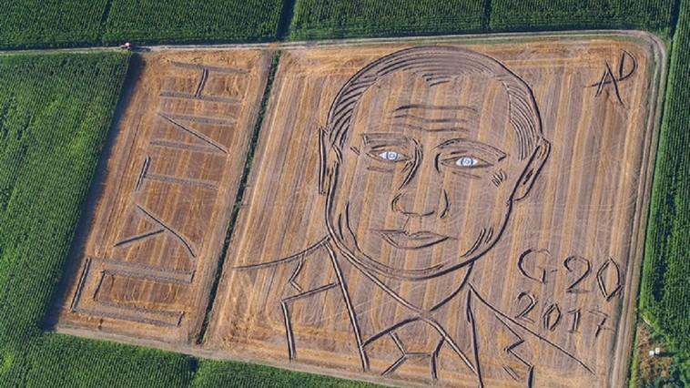 В Италии появился огромный портрет Путина