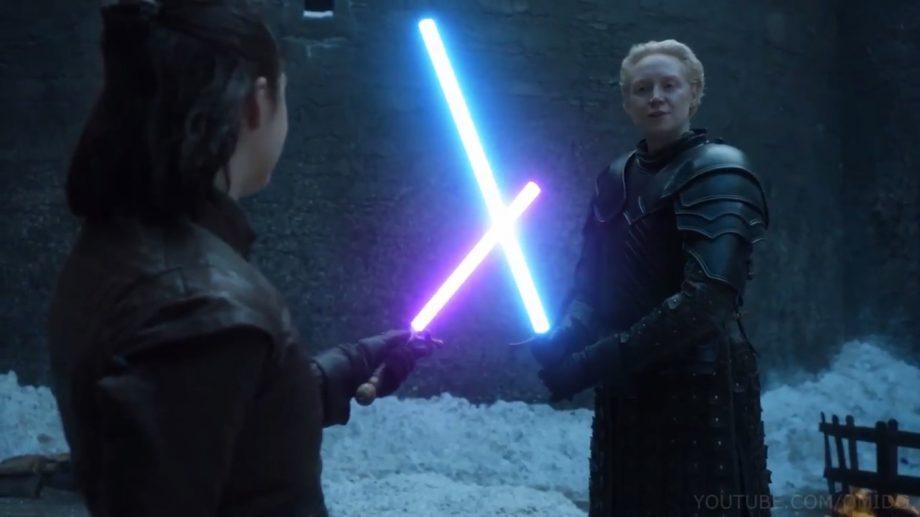 (видео) Звездные войны престолов. Если бы у персонажей «Игры престолов» были световые мечи из «Звездных войн»