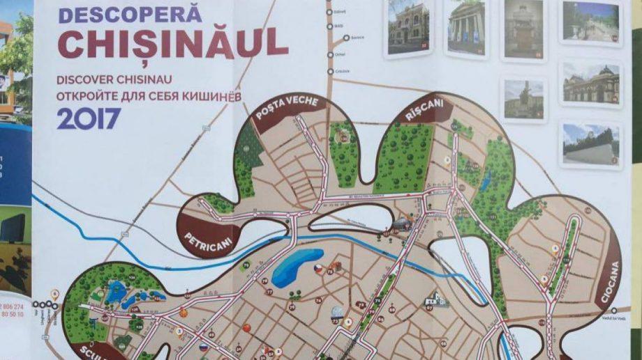 (фото) У Кишинева появилась интерактивная туристическая карта Descoperă Chișinăul 2017. Что в ней можно найти