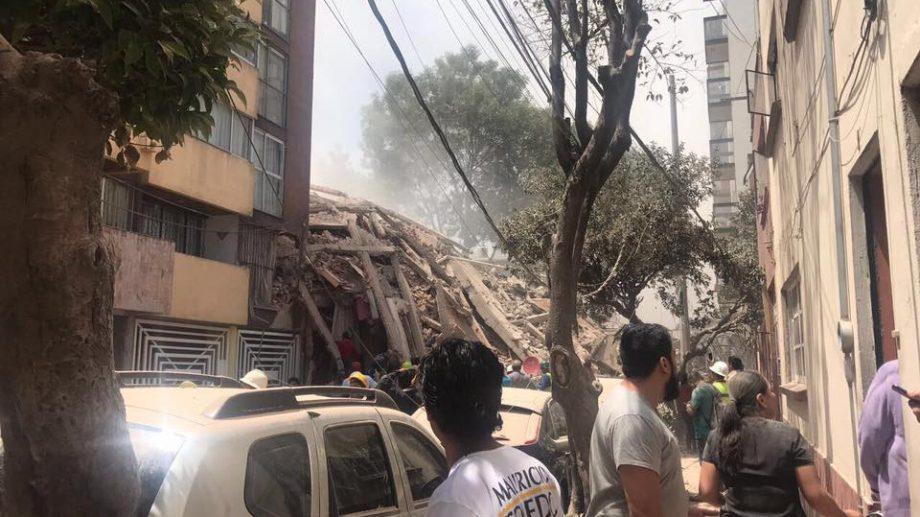 (фото, видео) Землетрясение в Мексике. Как это было