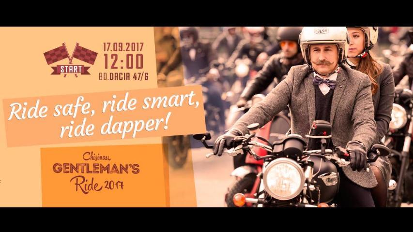 В это воскресенье любой мотоциклист может статьмистером Chisinau Gentleman's Ride 2017