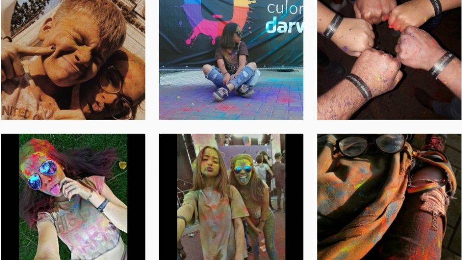 (фото, видео) Как выглядел Фестиваль Красок Darwin в социальных сетях