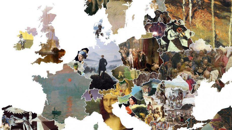 Карта Европы из наиболее значимых картин. Узнай, чем знаменита Молдова