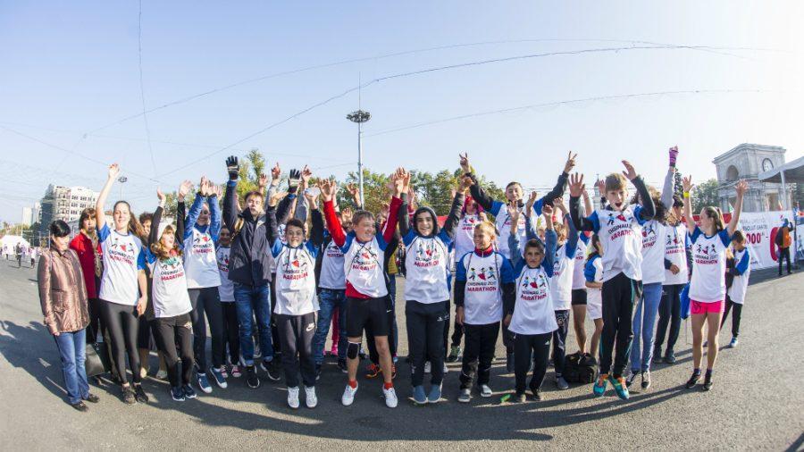 (фото) Дети с обоих берегов Днестра участвовали в Кишиневском Международном Марафоне