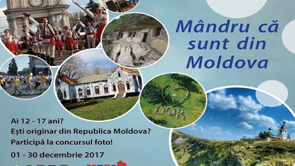 """Фотоконкурс """"Я горжусь, что родился в Молдове"""" для детей 12-17 лет"""