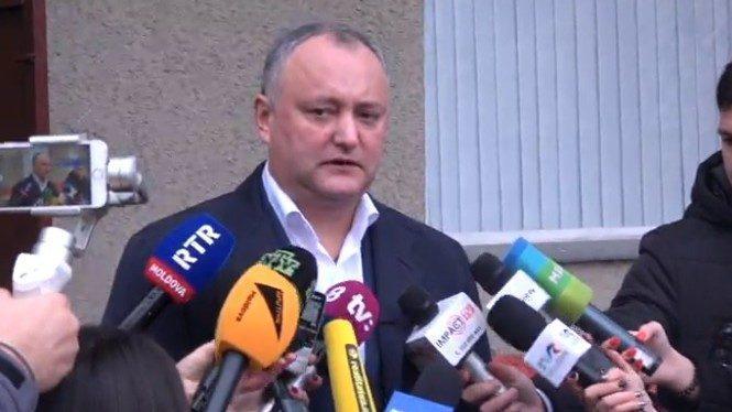 Президент Республики Молдова Игорь Додон проголосовал на Референдуме
