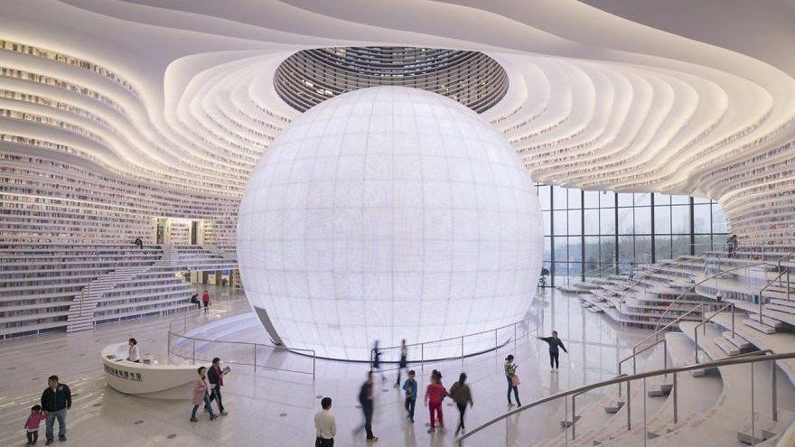 (фото) Как выглядит самая большая библиотека в Китае