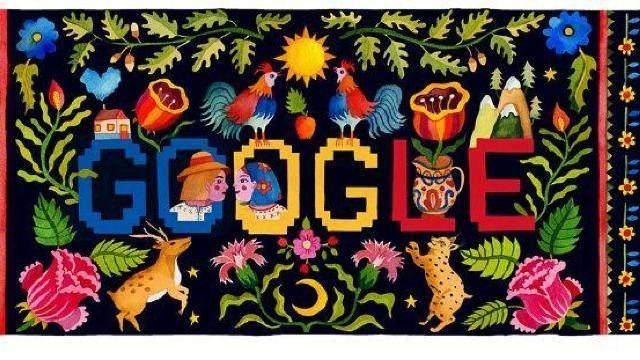 Google отмечает Национальный день Румынии специальным логотипом и дудлом