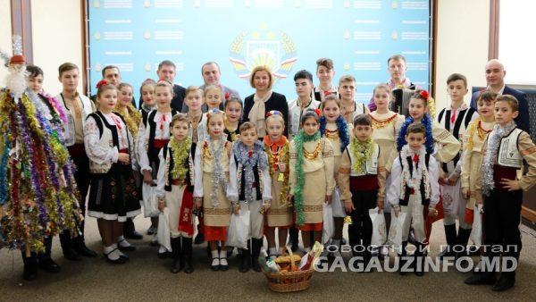 (видео) Башкан Гагаузии Ирина Влах приняла колядующих по случаю празднования Старого Нового года