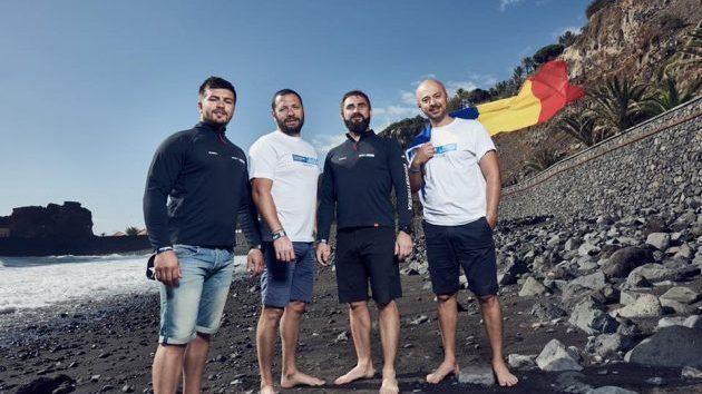 (фото) Четверо румын пересекли Атлантический океан на гребном судне