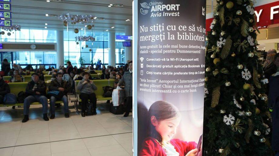 Международный Аэропорт Кишинева дарит всем пассажирам бесплатный доступ к электронным книгам