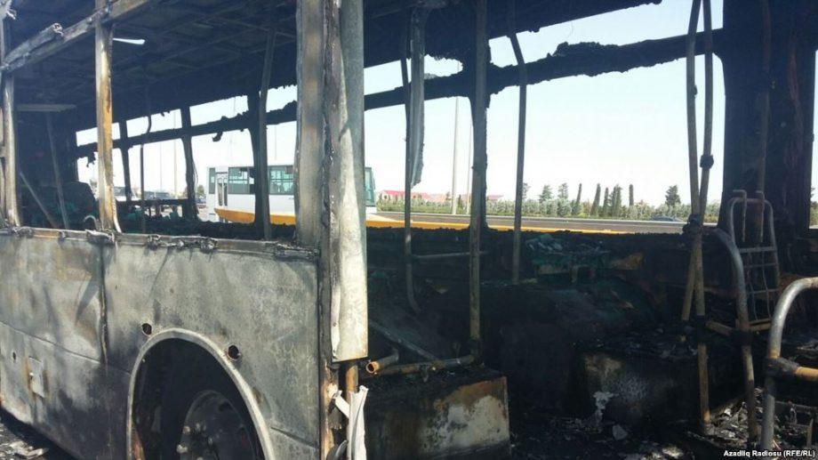 При возгорании автобуса в Казахстане погибли 52 человека. Причина пожара выясняется