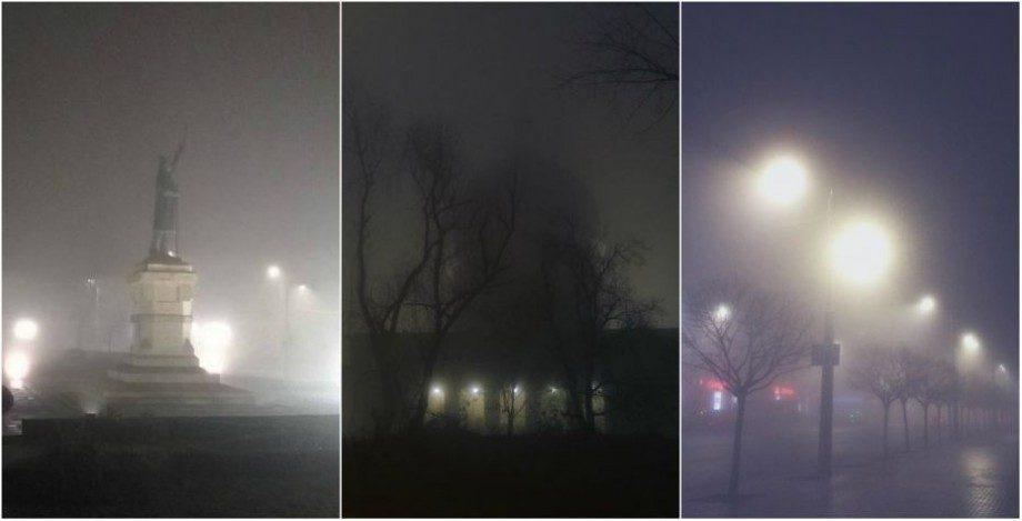(фото) Кишинев в тумане. Как пользователи сети инстаграм увидели этот метеорологический феномен
