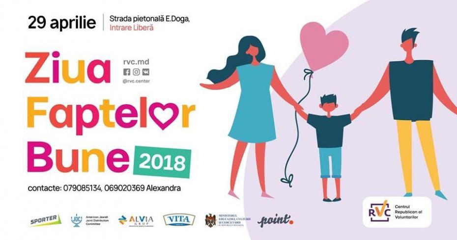 В 35 населенных пунктах Республики Молдова 29 апреля состоится День Добрых Дел