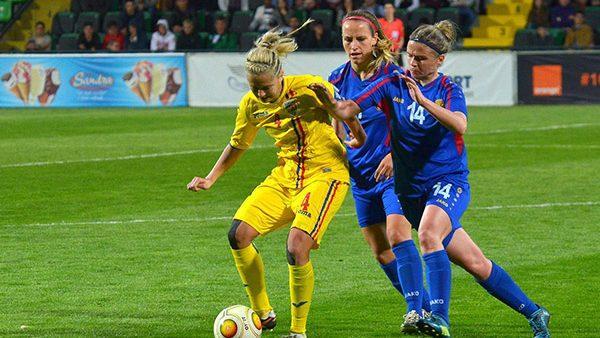 Женская национальная сборная сыграла вничью с Румынией