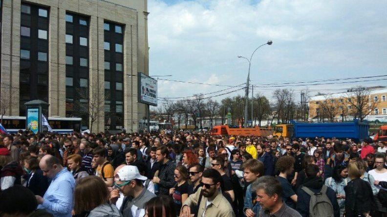 В Москве проходит митинг против блокировки Telegram