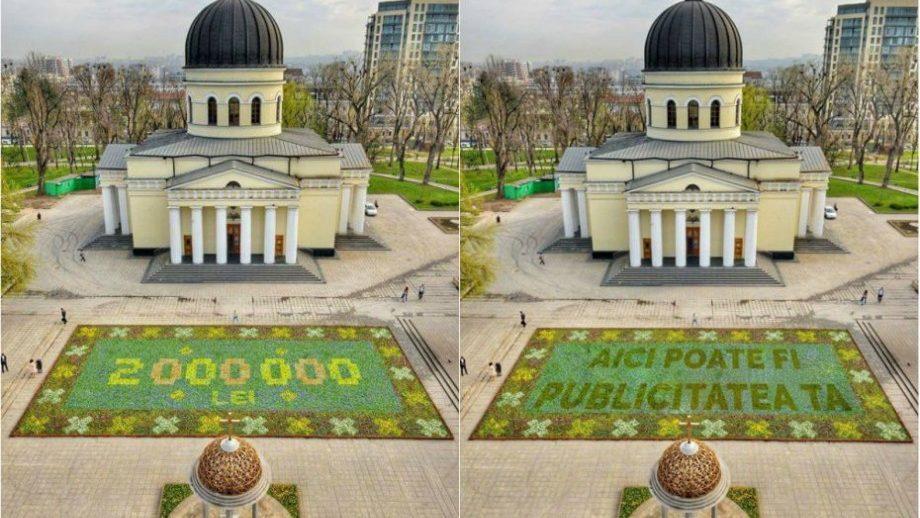 """(фото) Самые популярные мемы про """"ковер из цветов"""", который появился в центре Кишинева"""