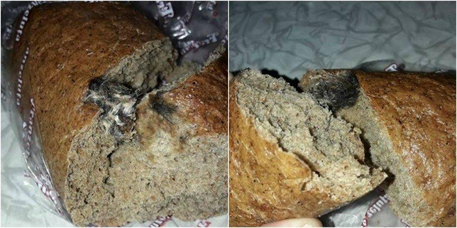 """(фото)""""Fie pâinea cât de rea, tot cu șoareci în țara mea"""". Мужчина в Кишиневе нашел в хлебе мышь"""