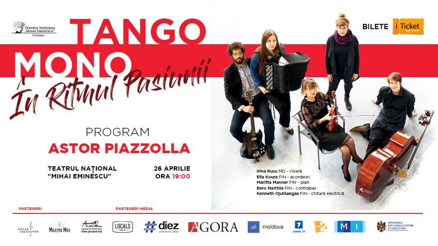В Кишиневе состоится концерт аргентинской музыки в исполнении финской группы Tango Mono