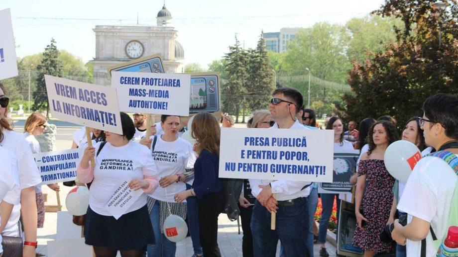 (фото) В Кишиневе прошелМарш Солидарности за Свободу Прессы в Молдове