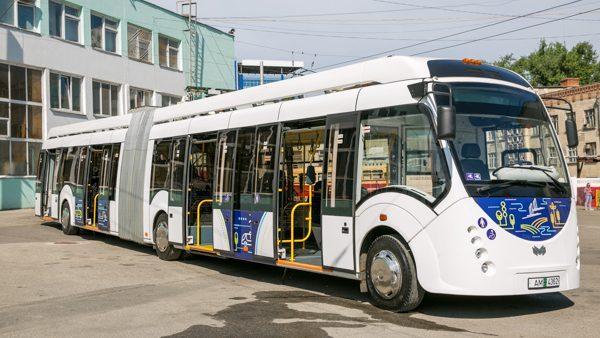 Новый электробус будут тестировать по маршруту в центре Кишинева в течение месяца
