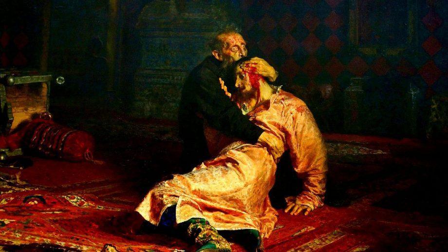 В Третьяковской галерее посетитель повредил картину Репина «Иван Грозный и сын его Иван»