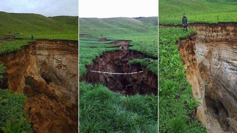 (видео) На территории Новой Зеландии образовалась громадная трещина