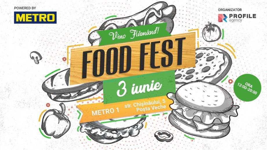 3 июня состоится масштабный фестиваль еды FoodFest. PoweredbyMetro. Приходить только голодным!