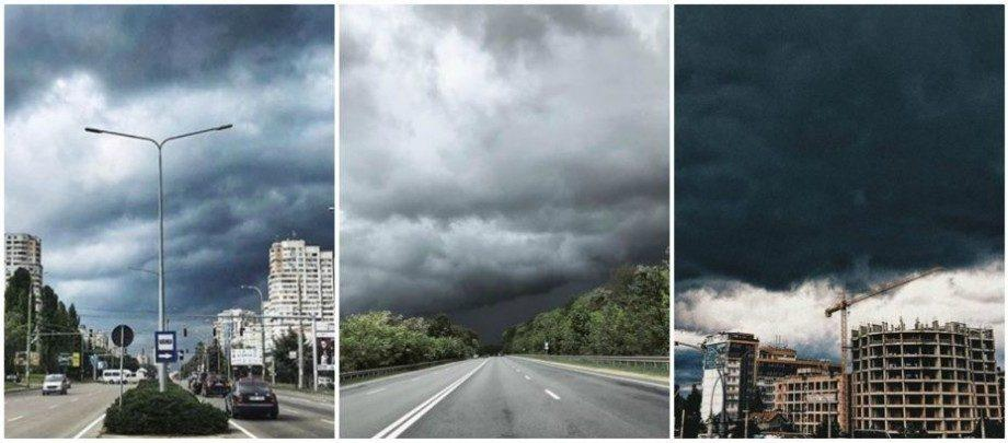 (фото) Как пользователи сети Instagram отреагировали на почерневшее от туч небо 13 мая