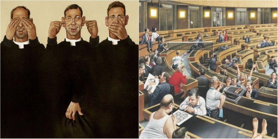 (фото) 10+ иллюстраций которые показывают абсурдность и цинизм мира в которым мы живём