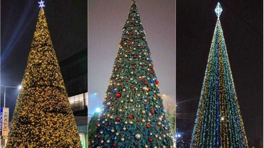 (фото) Праздник к нам приходит. Как выглядят новогодние ёлки в разных местах в городе Кишинэу