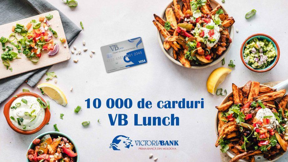 Victoriabank выпустил около 10 000 карточек VB Lunch