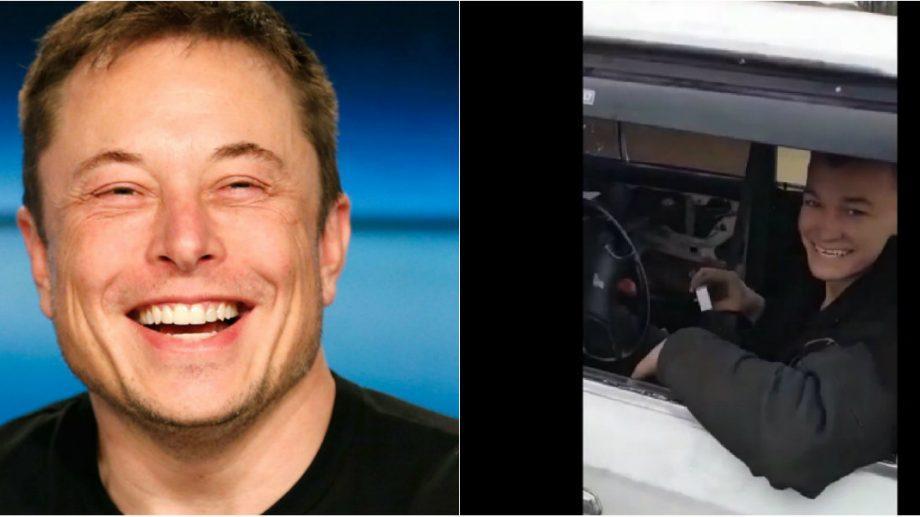"""(video) """"хаха офигенно"""". Елон Маск прокомментировал, в Твиттере, вид Жигуля сделанный молодым парнем из России"""