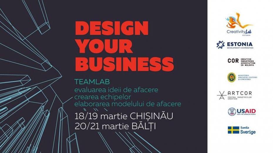 """Думаешь создать собственный креативный бизнес? Запишись на бесплатную программу Teamlab """"Design your business"""""""