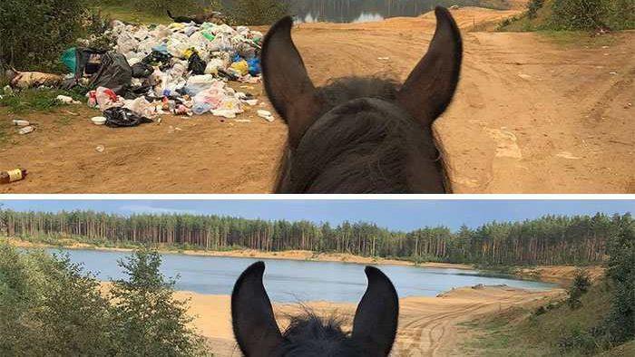 (фото) В интернете набирает популярность новый челлендж. Люди фотографирует место до и после уборки