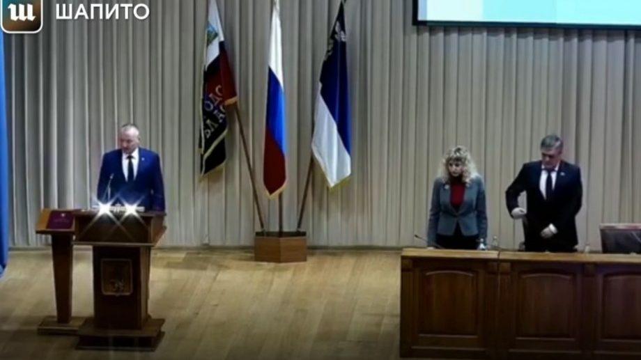 (видео) Не с этой планеты. Новый мэр Белгорода принял присягу под марш из «Звездных войн»