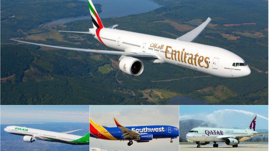 (фото) Топ 10 лучших авиакомпаний мира, в 2018, по версии TripAdvisor. Какие страны вошли в список
