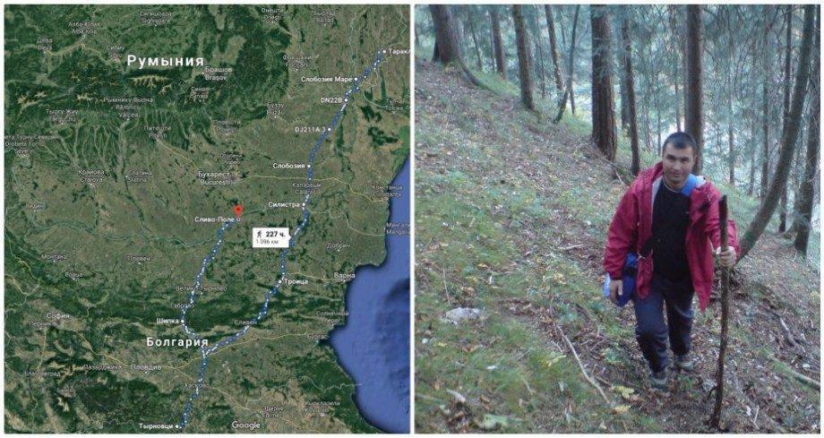 (фото) Хочет повторить путь своих предков, пришедших из Болгарии в Молдову. Владимир Магла хочет пройти более 600 км