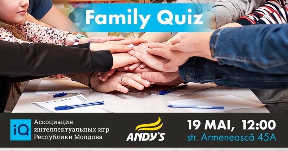 Впервые в Молдове организуется семейная интеллектуальная игра Family Quiz